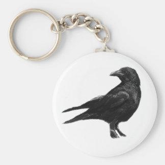 Llavero negro del cuervo
