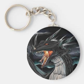 Llavero negro del dragón