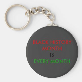 Llavero negro del mes de la historia