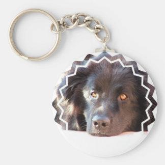 Llavero negro del perro de Terranova