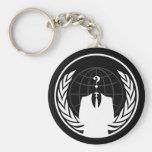 Llavero negro internacional anónimo