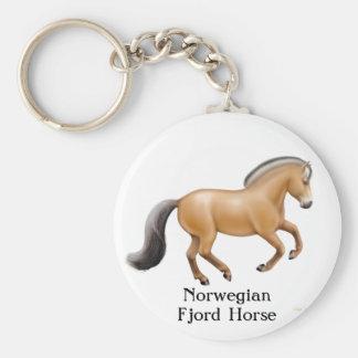 Llavero noruego del caballo del fiordo