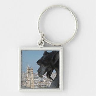 Llavero: Notre-Dame de Paris - Gargoyle Llavero Cuadrado Plateado