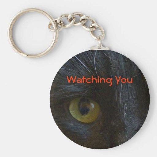 Llavero: Ojos de gato negro