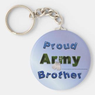 Llavero orgulloso de Brother del ejército