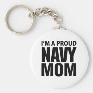 Llavero orgulloso de la mamá de la marina de