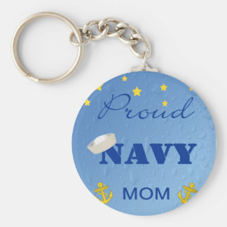 Llavero orgulloso de la mamá de la marina de guerr