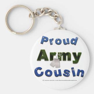 Llavero orgulloso del azul del primo del ejército
