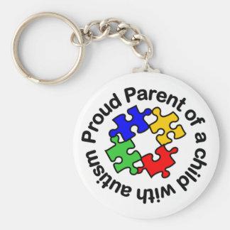 Llavero orgulloso del niño w/autism del padre