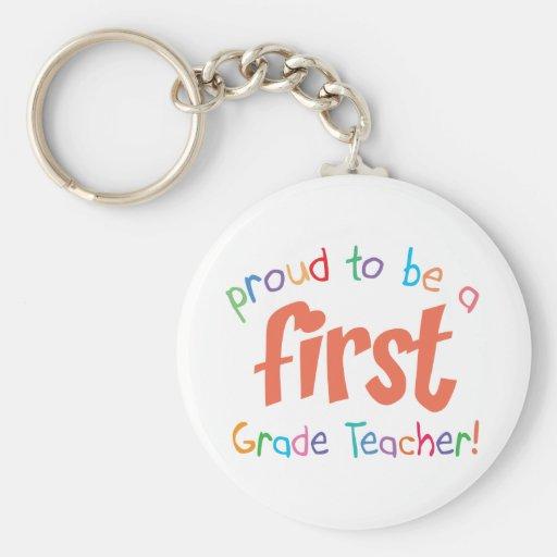 Llavero orgulloso del profesor del primer grado