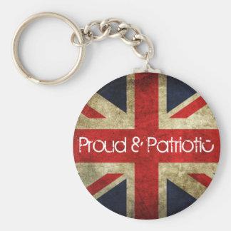Llavero orgulloso y patriótico de la bandera de