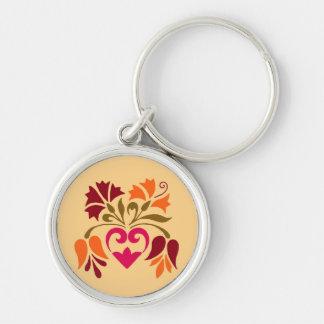 Llavero ornamental floral del diseño