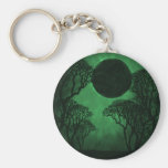 Llavero oscuro del eclipse del bosque, verde