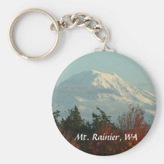 Llavero: Otoño el Monte Rainier Llavero Redondo Tipo Pin