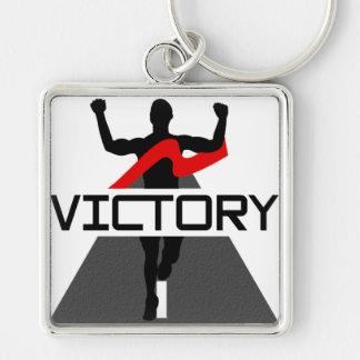 Llavero para hombre del corredor de la victoria