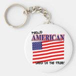 Llavero patriótico americano orgulloso