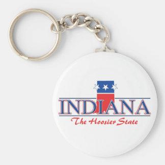 Llavero patriótico de Indiana