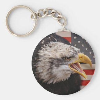 Llavero patriótico de la imagen de Eagle