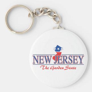 Llavero patriótico de New Jersey