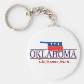 Llavero patriótico de Oklahoma