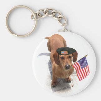Llavero patriótico del dachshund