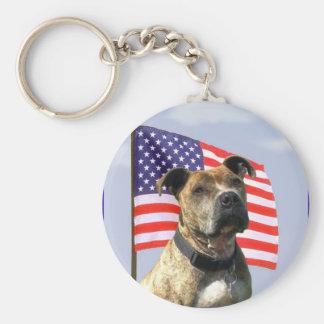 Llavero patriótico del pitbull
