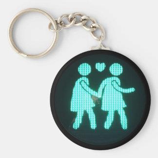 Llavero peatonal lesbiano de la señal (estilo del