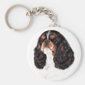 Llavero: Perro de aguas inglés del juguete (rey Ch Llavero Redondo Tipo Pin