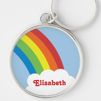 llavero personalizado arco iris retro de los años