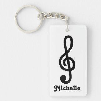 Llavero personalizado de la nota de la música del
