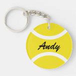 Llavero personalizado de la pelota de tenis con no