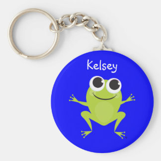 Llavero personalizado de la rana para los niños
