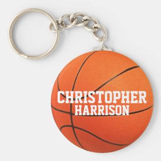 Llavero personalizado del baloncesto llavero redondo tipo chapa