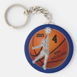 Llavero personalizado del baloncesto para el