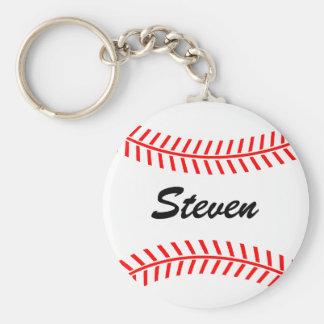 Llavero personalizado del béisbol con nombre de