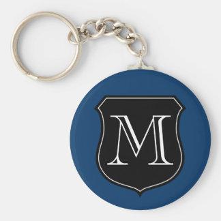 Llavero personalizado del monograma con el emblema