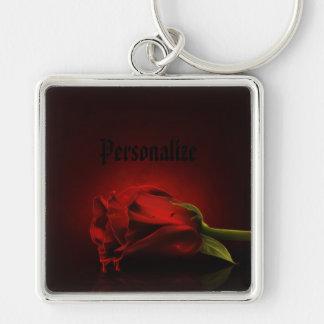 Llavero personalizado sangriento gótico del rosa r