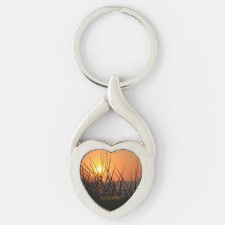 Llavero personalizado silueta del corazón de la llaveros