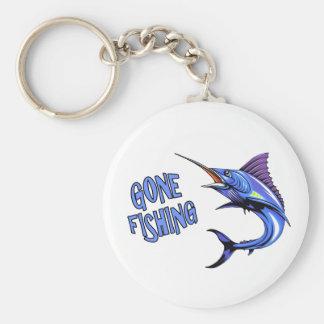 Llavero pesquero ido de la aguja azul