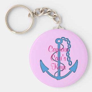 Llavero Pink Women's Keys Anchor de capitán de enc