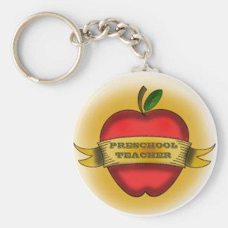 Llavero preescolar del profesor - el vintage Apple