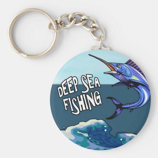 Llavero profundo de la pesca en mar