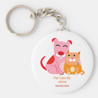 Llavero promocional del cuidado de animales de com