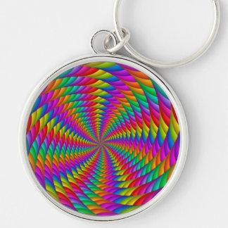 Llavero psicodélico del espiral del arco iris