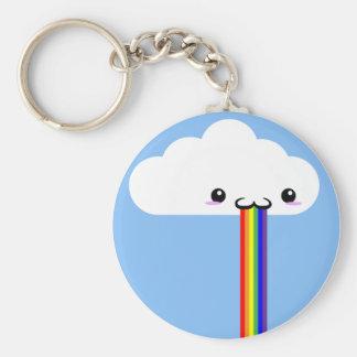 Llavero Puking del arco iris de la nube