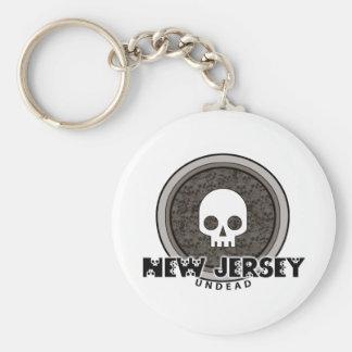 Llavero punky lindo de New Jersey del cráneo