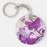 Llavero púrpura de la mariposa