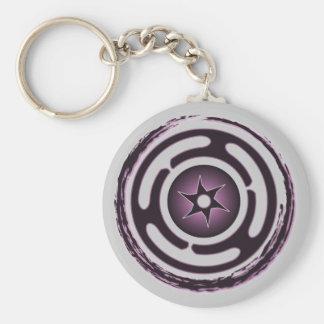 Llavero (púrpura) de la rueda de Hecate