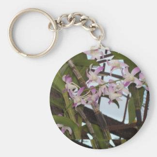 Llavero púrpura de las orquídeas