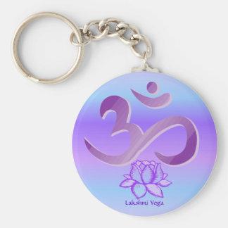 Llavero púrpura de OM y de Lotus